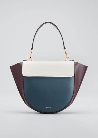 Hortensia Medium Bicolor Top-Handle Bag