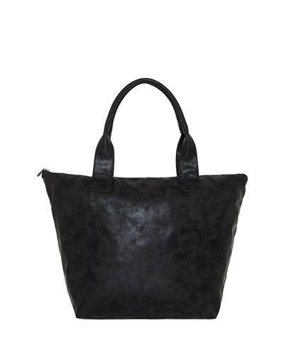 Vegan Leather Shopper Tote Bag