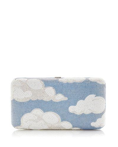 Clouds Smooth Rectangular Crystal Clutch Bag