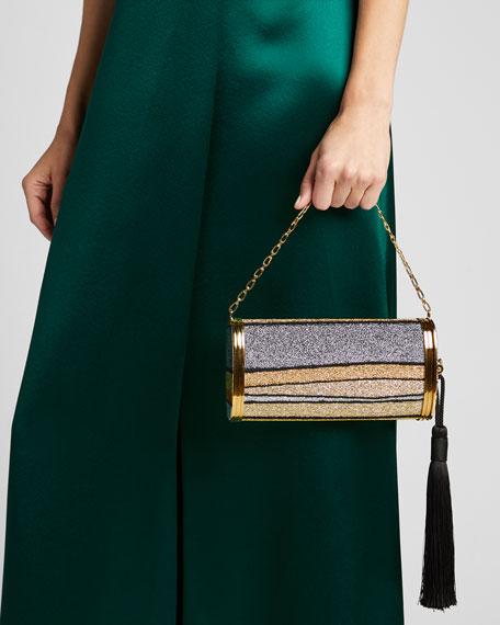 Mori Halcyon Metallic Clutch Bag