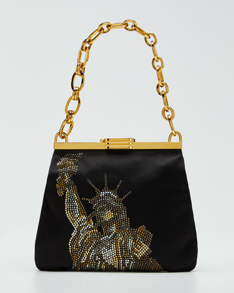 Statue of Liberty Crystal Clutch Bag