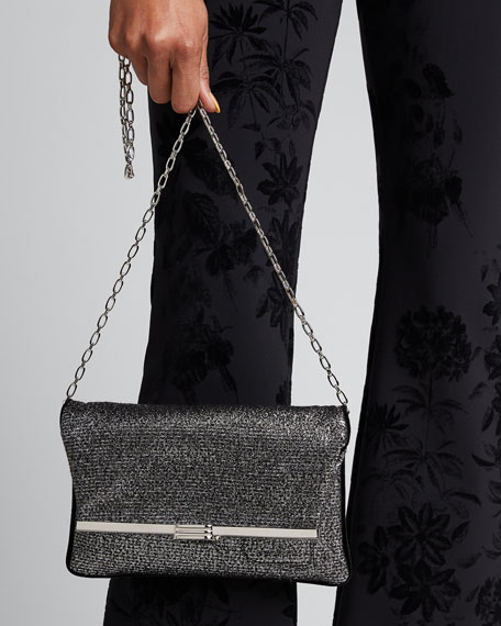 Gunmetal Chain Clutch Bag