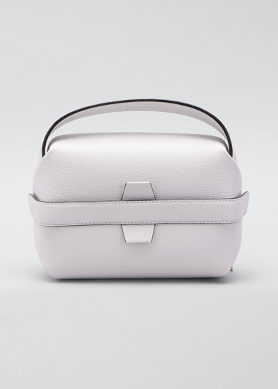 Pebbled Leather Top Handle Box Bag