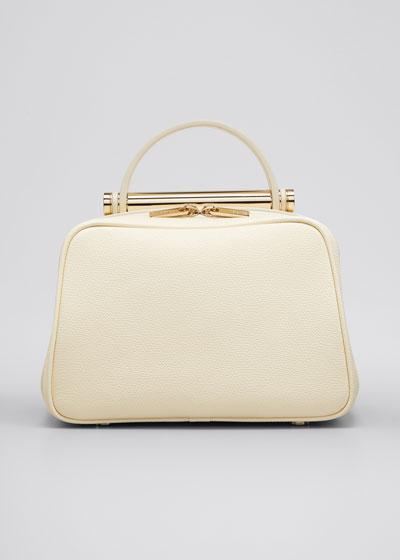 Leather Top Handle Crossbody Bag