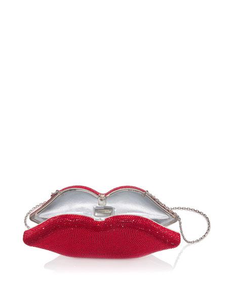 Hot Lips Crystal Clutch Bag