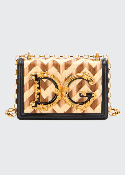 DG Girl Jeweled Baroque Chain Shoulder Bag