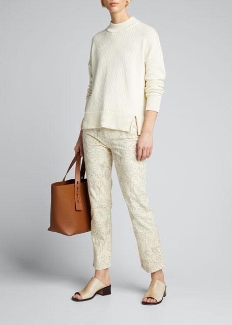 Medium Leather Top Handle Tote Bag