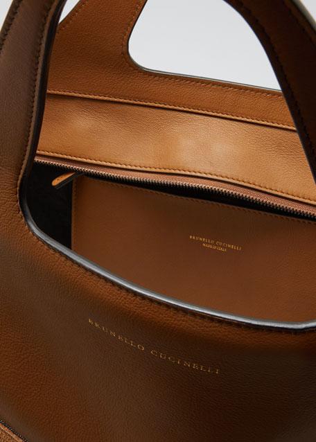 Large Raffia & Leather Tote Bag