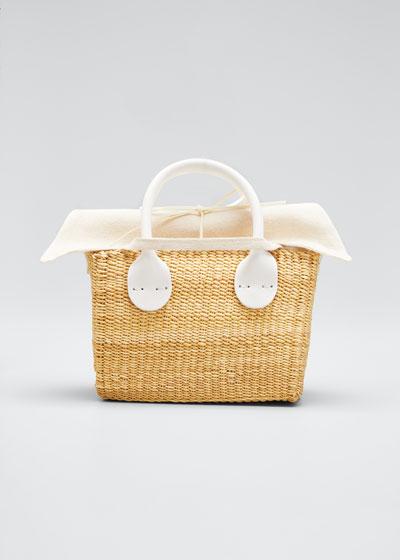 Charles Mini Woven Basket Tote Bag