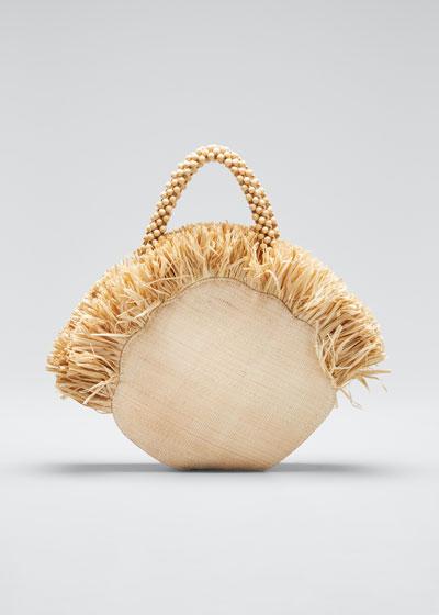 Woven Clam Handbag