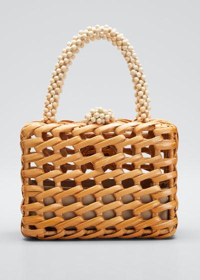 Luna Woven Clutch Bag