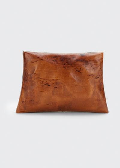 Mini Wood Chain Clutch Bag