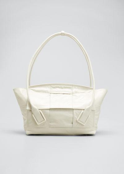 Arco 48 Medium Intrecciato Paper Shoulder Tote Bag