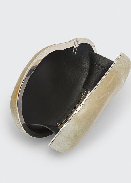 Mini Pebble Rock Chain Clutch Bag