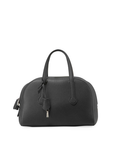Sporty Bowler 12 Bag in Pebbled Leather