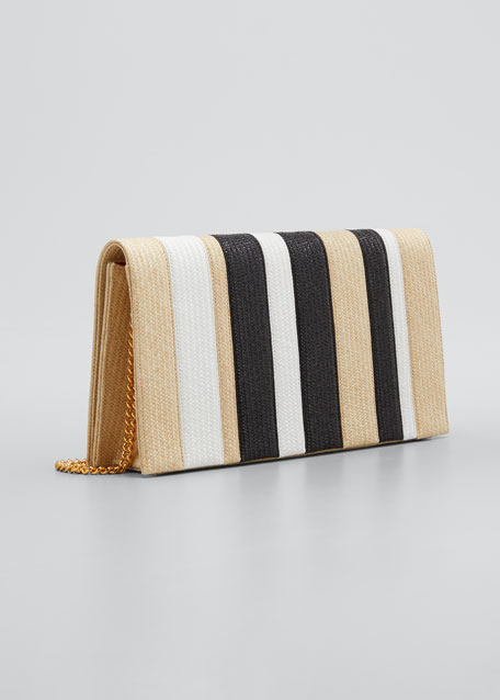 Nina Stripe Chain Clutch Bag