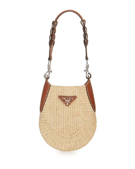 Small Raffia Hobo Bag