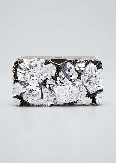 Ellipse Yue Clutch Bag with Flower