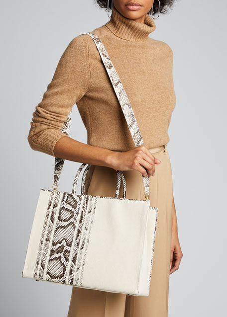 Emma Striped Python Medium Tote Bag