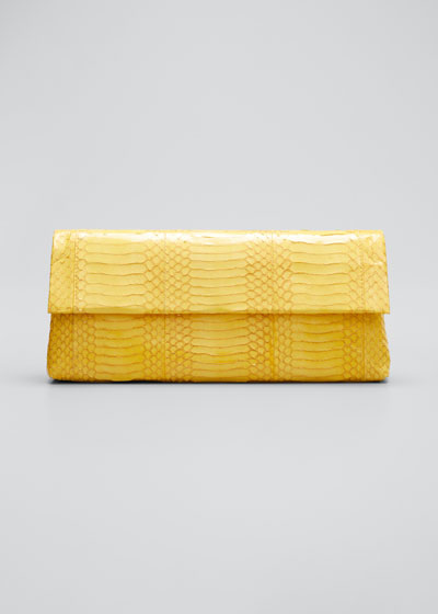 Gotham Medium Snakeskin/Croc Clutch Bag