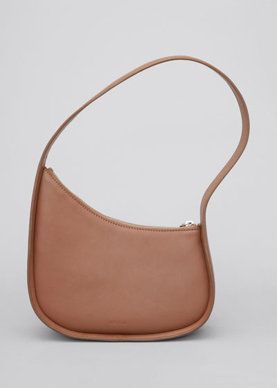 Half Moon Hobo Bag in Calfskin Leather