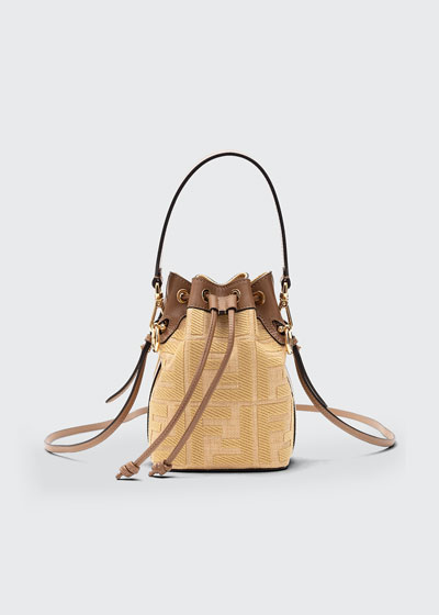 Mon Tresor Mini FF Embroidery Bucket Bag
