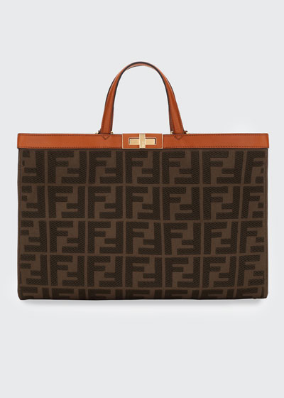 Peekaboo X-Lite FF Logo Canvas Medium Tote Bag