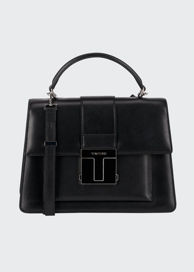 Medium Leather Top-Handle Bag