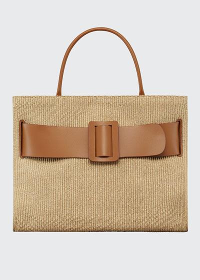 Bobby 50 Large Bicolor Raffia Tote Bag