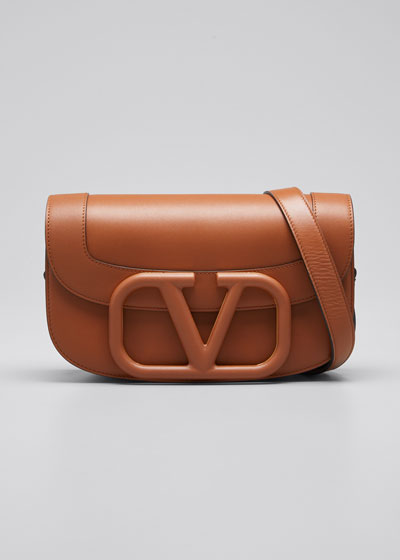 Supervee Medium Leather Shoulder Bag
