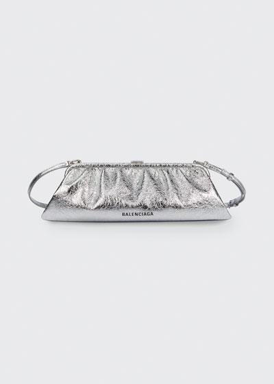 Cloud XL Metallic Leather Clutch Bag