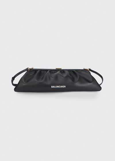Cloud XL Grained Leather Clutch Bag