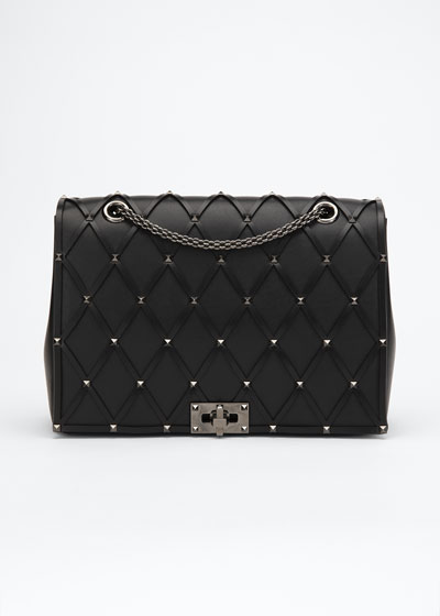 Beehive Chain Shoulder Bag - Ruthenium Hardware