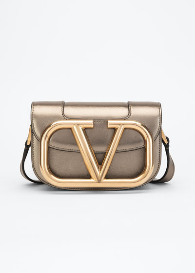 Supervee Small Metallic Napa Shoulder Bag