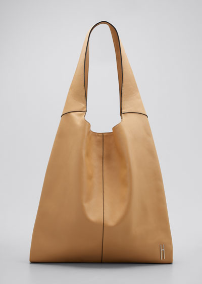 Grand Leather Shopper Tote Bag