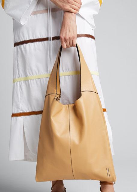 Grand Leather Shopper Tote Bag