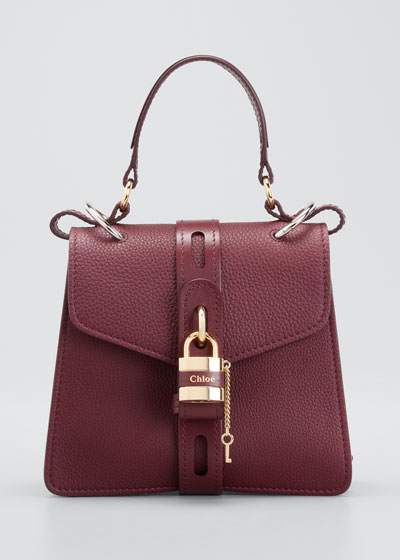 Aby Mini Lock & Key Belted Top-Handle Bag