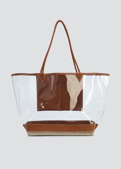 Espadrille Large PVC & Leather Tote Bag