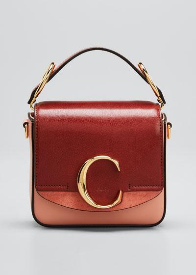 C Mini Colorblock Leather Shoulder Bag