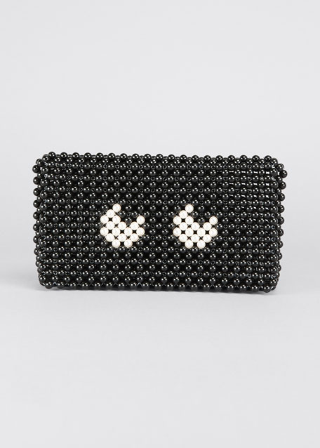 Image 1 of 1: Pearls Eyes Clutch Bag
