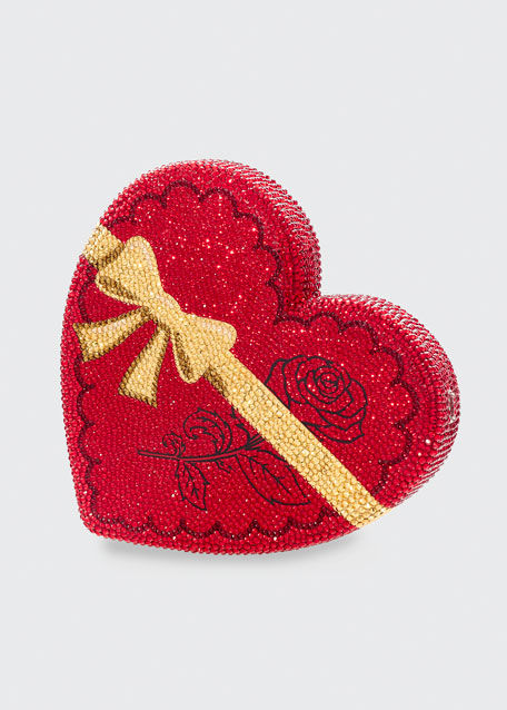 Image 1 of 1: Heart QT Pie Crystal Clutch Bag