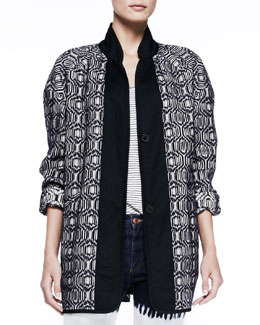 Isabel Marant Etoile Ebba Textured Long-Sleeve Coat