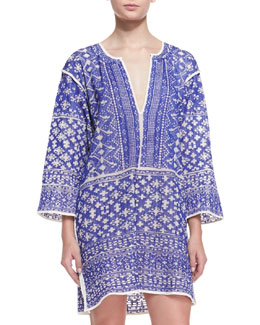Isabel Marant Etoile Bloom Printed Split-Hem Tunic