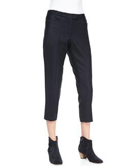 Isabel Marant Etoile Mika Cropped Crepe Pants