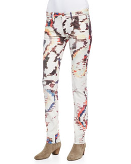 Isabel Marant Etoile Reilly Printed Slim-Leg Jeans
