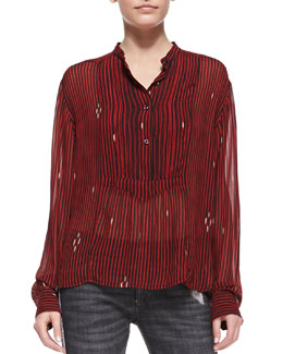 Isabel Marant Etoile Charley Printed Voile Blouse