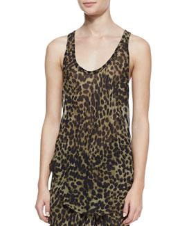 Isabel Marant Etoile Cameron Leopard-Print Tank Top