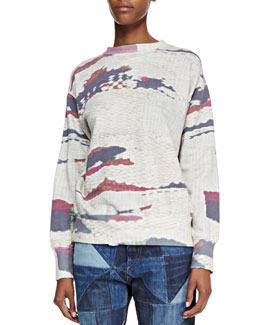Isabel Marant Etoile Hana Abstract-Print Sweatshirt