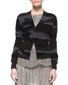 Isabel Marant Etoile Varyia Camo Wrap Sweater