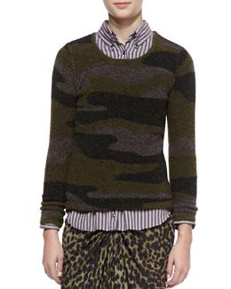 Isabel Marant Etoile Vetra Camo-Print Sweater